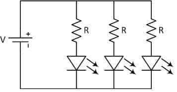 LED-resistor-parallel-circuit