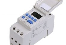 Photoelectric timer, weekly programmable, with astronomical correlation for DIN rail
