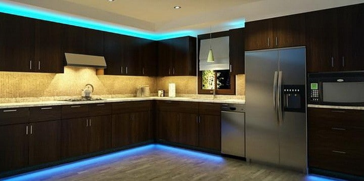kitchen-cabinets-with-LED-strip