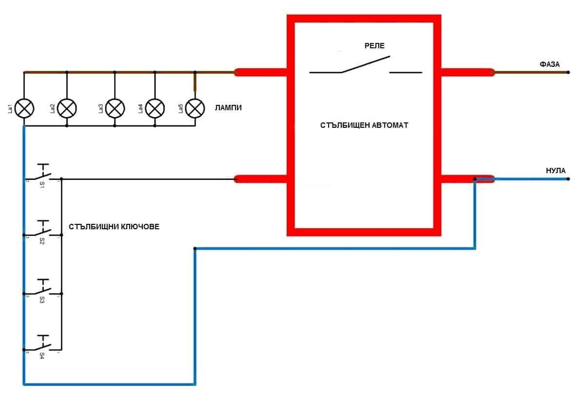 Two Way Switch For Lighting Scheme With A Double Float System Schematic