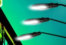 Photo of LED street lighting